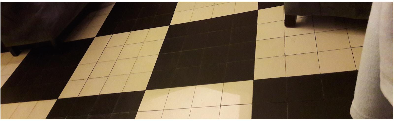 French Victorian black & white tiles