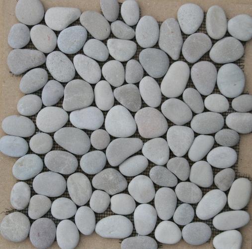 Beach Pebbles creme kiezelstenen op matje per m2 online bestellen ...