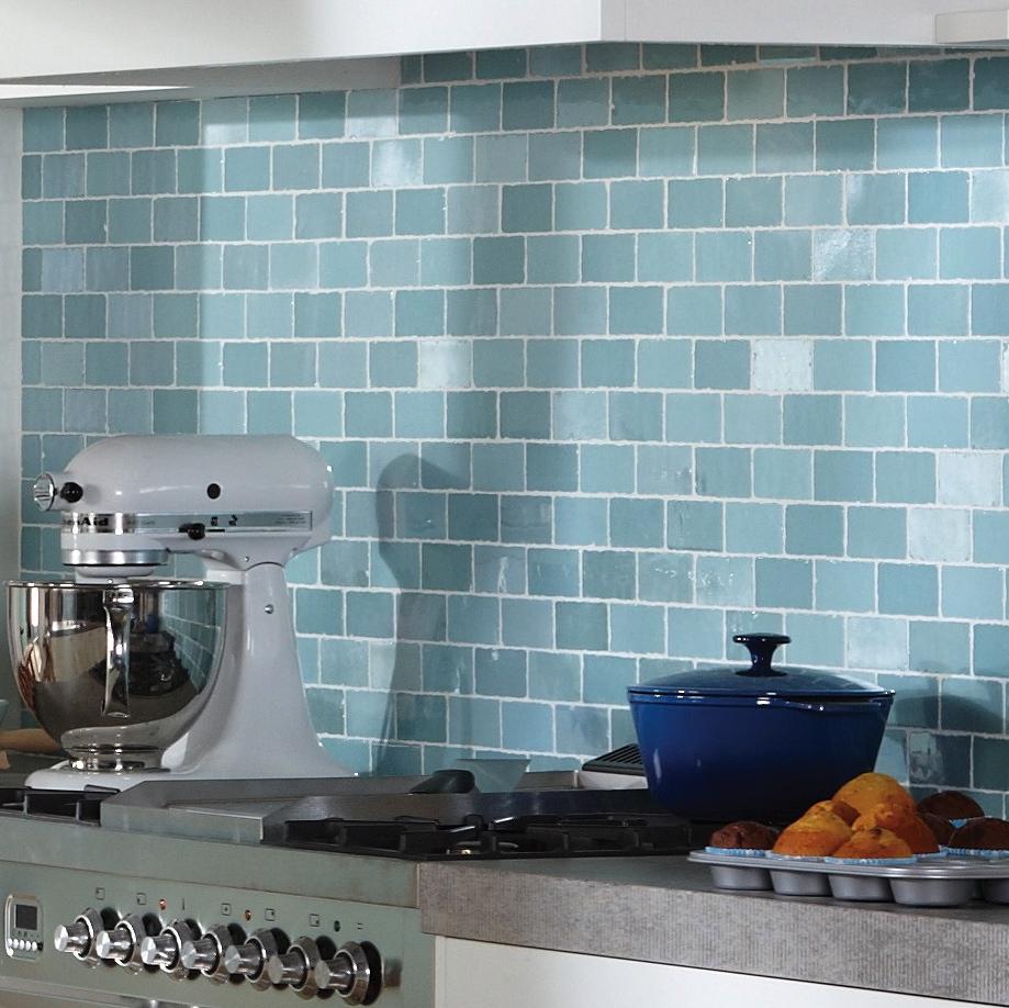 Tegels Voor Keuken.Bruynzeel Bolton Aqua Verde Zeegroen Per Matje Online