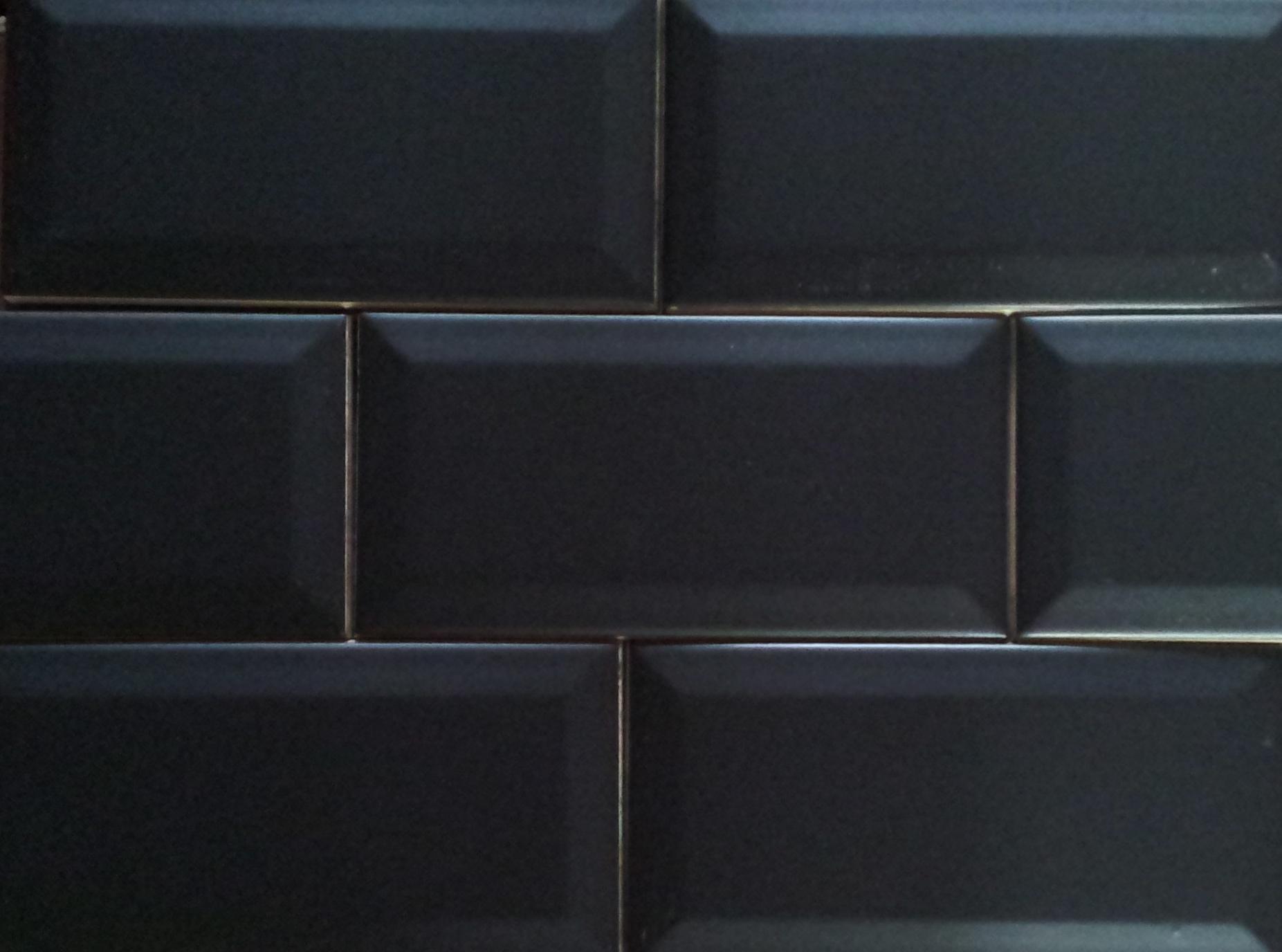 Metrotegel zwart mat 7 5 x 15 2 cm per m2 online bestellen tegelinfo - Mat tegels ...