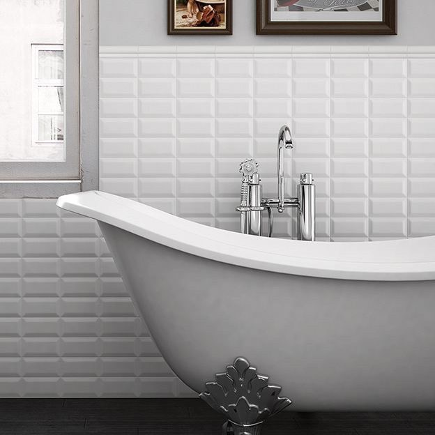 Metrotegel blanco wit mat 7 5 x 15 cm per m2 online bestellen tegelinfo - Keuken tegel metro ...