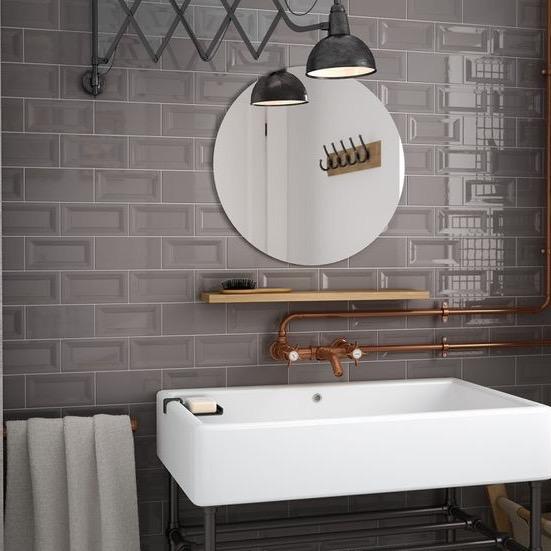 metrotegel donkergrijs glanzend vice versa 7 5 x 15 cm per m2 online bestellen tegelinfo. Black Bedroom Furniture Sets. Home Design Ideas