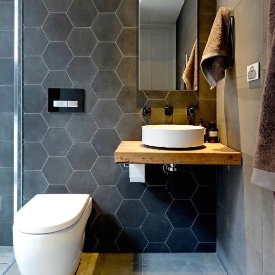 Hexagonaal Rewind grijs uni tegel 18,2 x 21 cm per m2 online ...