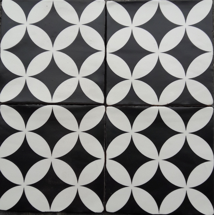 Zwart Wit Vloertegels.Circle Of Life 13 Zwart Wit Wand Vloertegel 13 X 13 Cm
