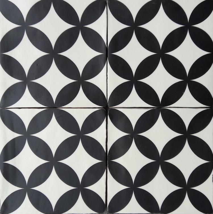 Vloertegels Zwart Wit.Circle Of Life 21 Zwart Wit Wand Vloertegel 13 X 13 Cm