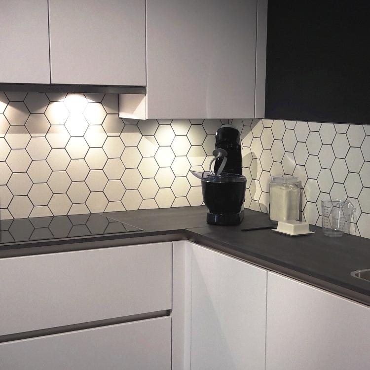 Luxor hexagon mat wit tegeltje 10,7 x 12,4 cm per m2 online ...