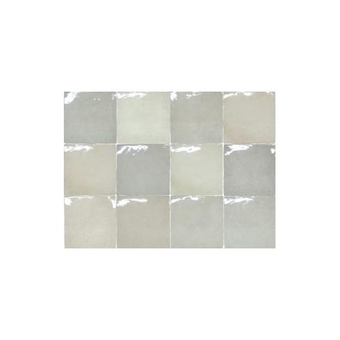 Crafted square white wit grijs glanzende mix 13 x 13 cm per m2