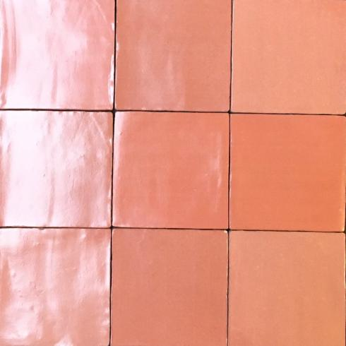 Crafted square pink roze matte mix 13 x 13 cm per m2