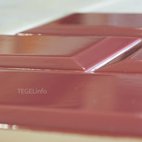 Metrotegel Burgundy donkerrood glanzend 7,5 x 15,2 cm