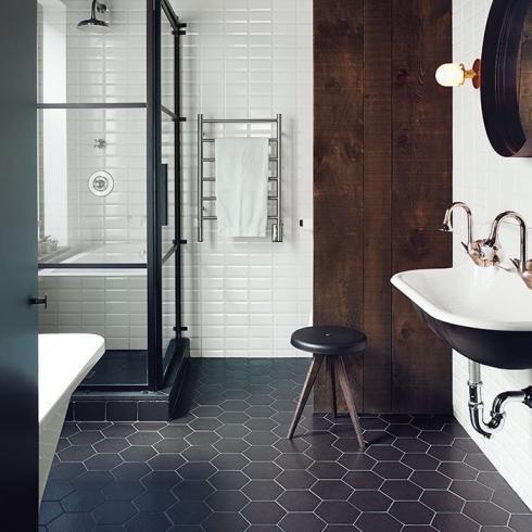 Hexagon zwart mat wand en vloertegel 17 5 x 20 cm per m2 online bestellen tegelinfo - Tegel wand design ...