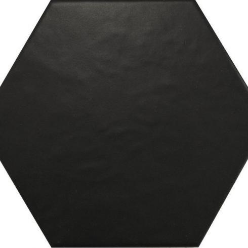 hexagon zwart mat wand en vloertegel 17 5 x 20 cm per m2 online bestellen tegelinfo. Black Bedroom Furniture Sets. Home Design Ideas