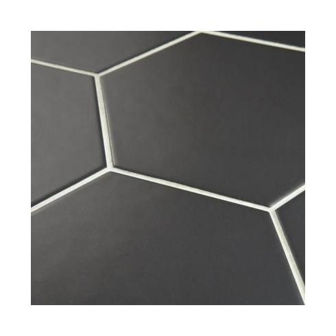 Hexagon zwart mat wand  en vloertegel 17,5 x 20 cm per m2 online ...