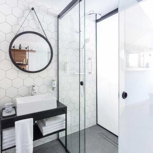 Hexagon wit lichtgrijs mat wand- en vloertegel 17,5 x 20 cm per m2 ...