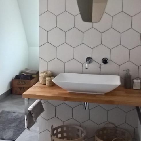 Vloertegels keuken zwart wit tegels tegels keuken grote - Idee outs semi open keuken ...