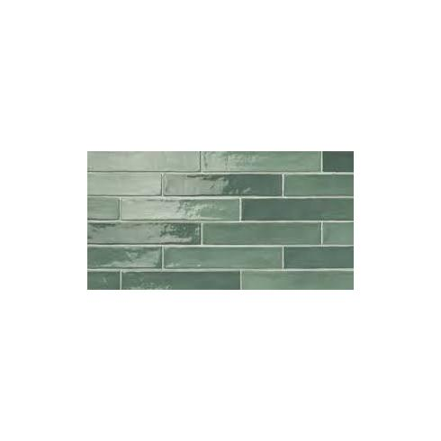 Small half tile green mix 5 x 25 cm