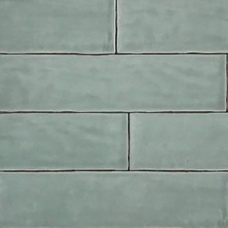 Half tile Handmade light green 7,5 x 30 cm per m2 SALE