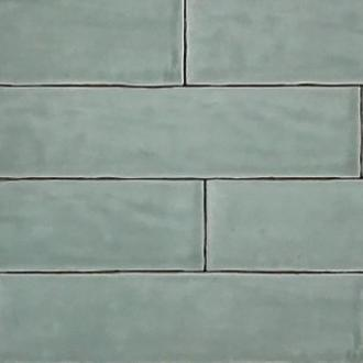 Half tile Handmade light green 7,5 x 30 cm per m2