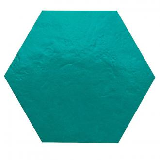 Hexagon XL glanzend turquoise wandtegel 28,5 x 32,5 cm per m2