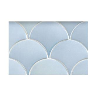 Mermaid light blue lichtblauwe waaier vissenschub wandtegel 6,2 x 12,7 cm per 0,35 m2